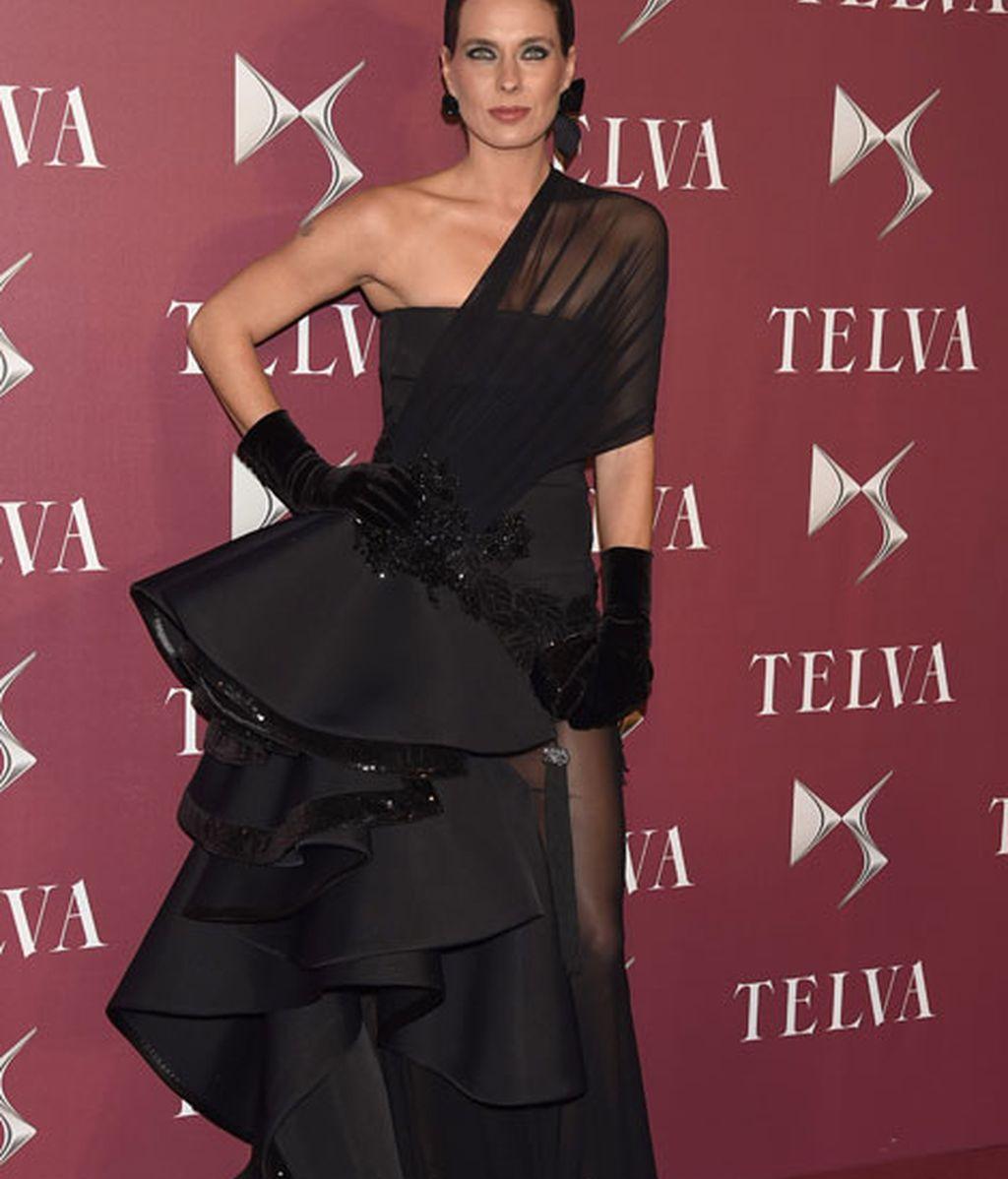 Alejandra Ortíz vestía de Roberto Diz
