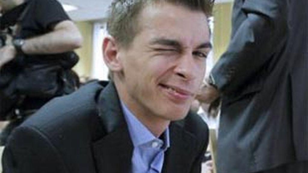 Imagen de Pablo Soto durante el primer día de juicio. Foto: EFE.