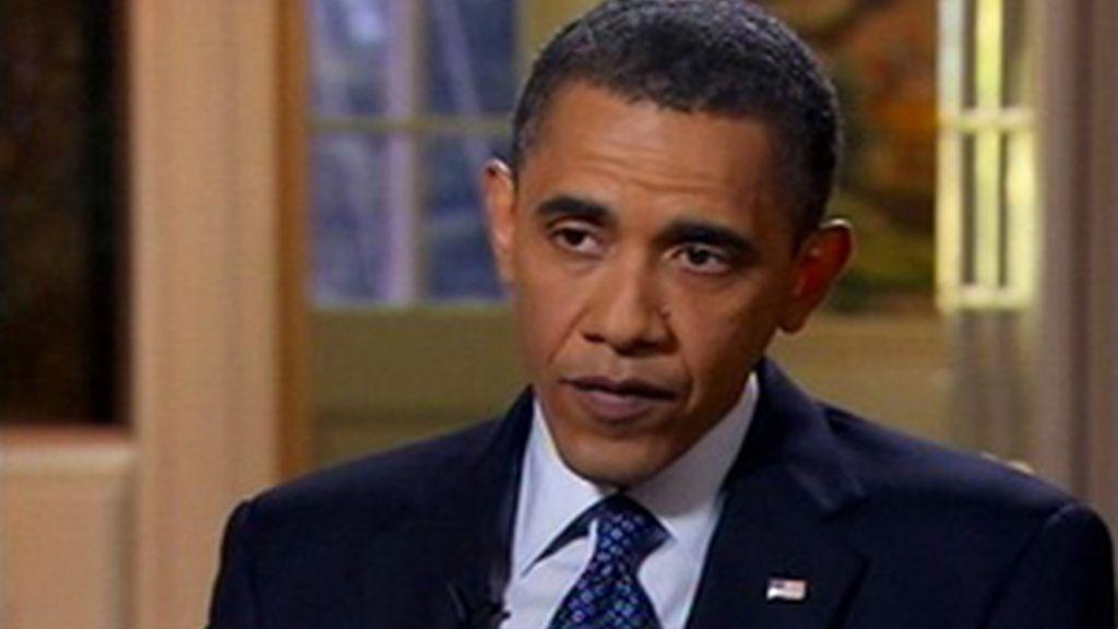 Barack Obama en una entrevista