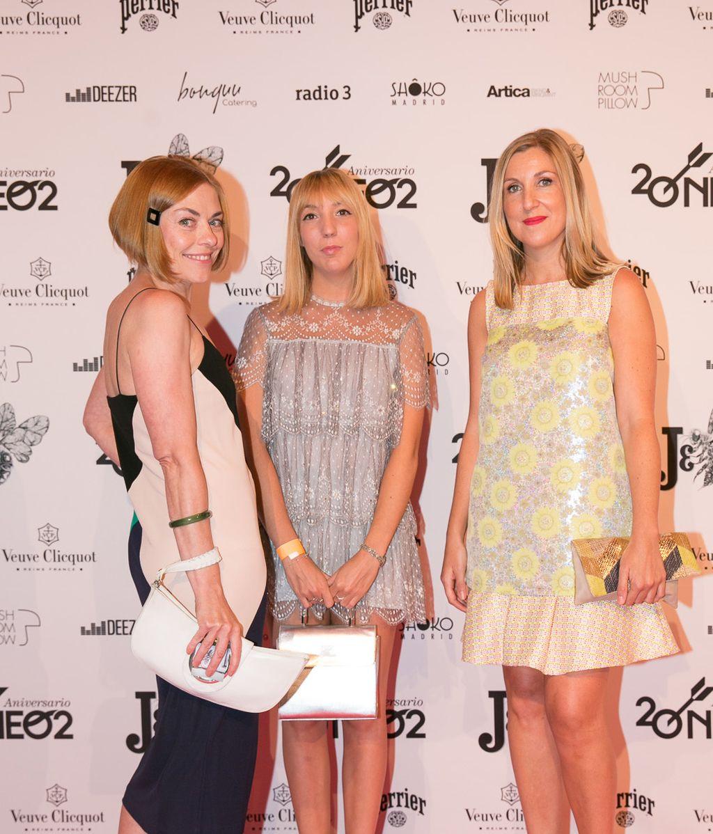 Las estilistas Mar Pulido, Debra Pulido y Virginia Fernández
