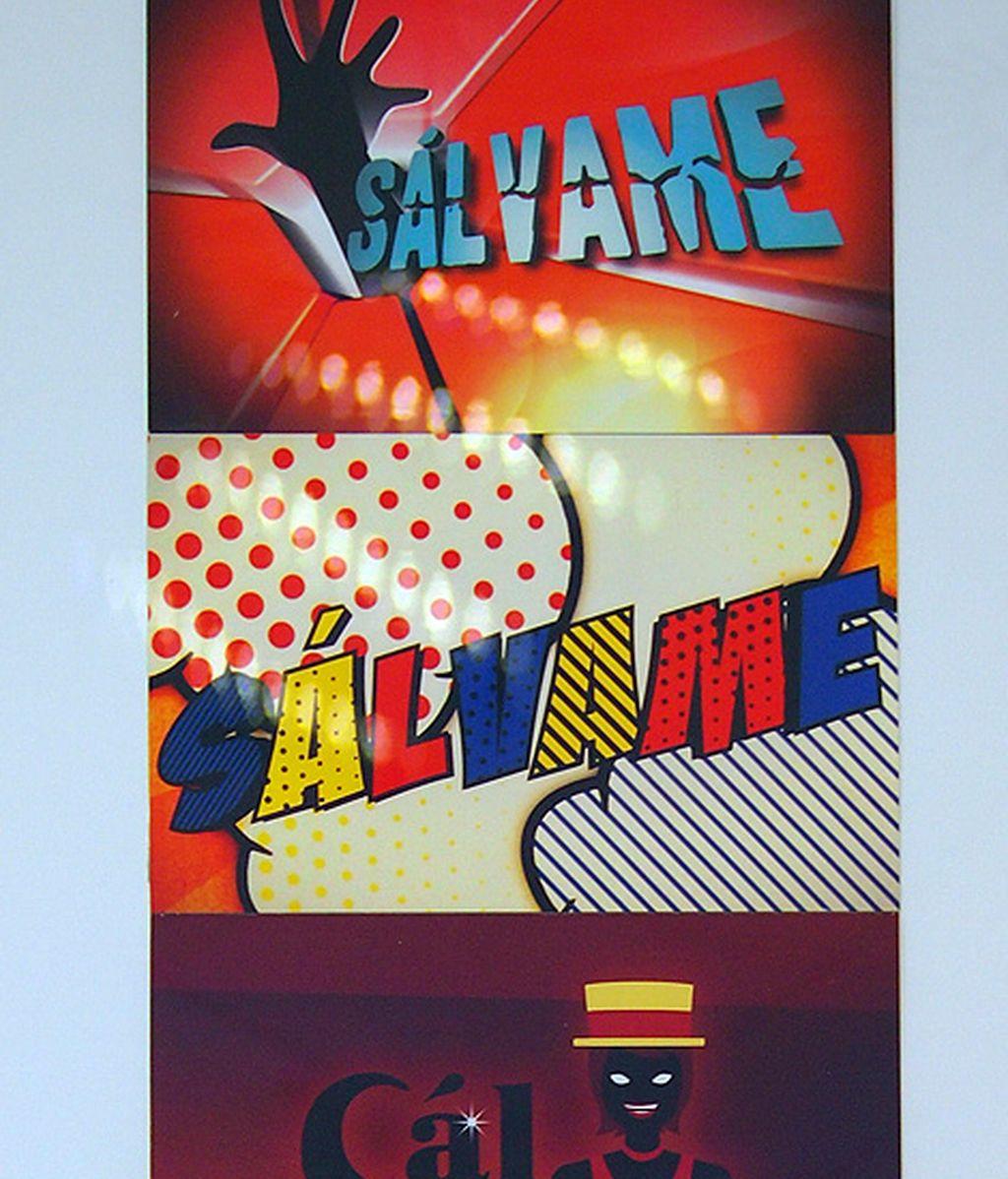 Los tarjetos con los diferentes logotipos de 'Sálvame'