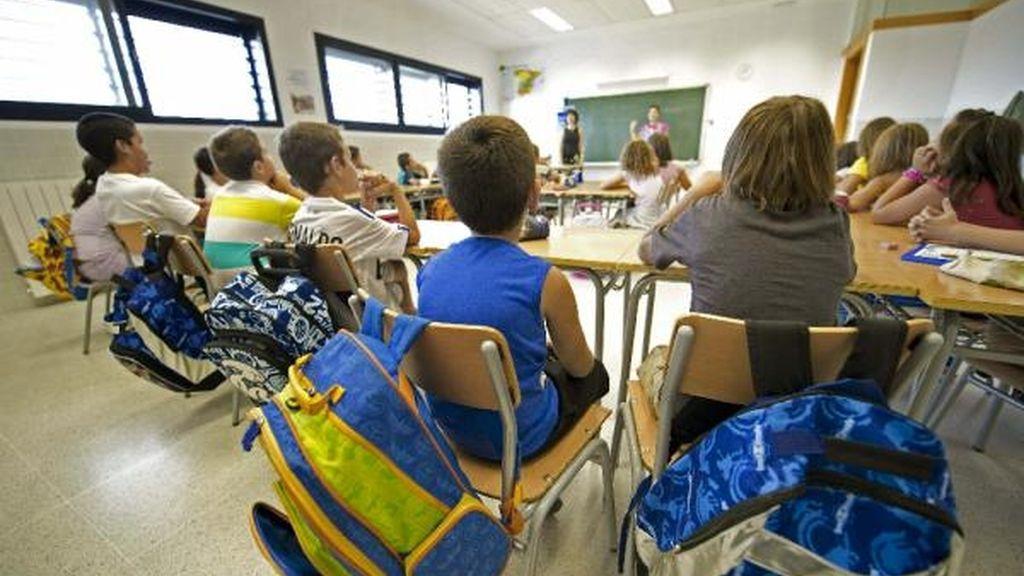 Niños de Primaria en un colegio de Toledo