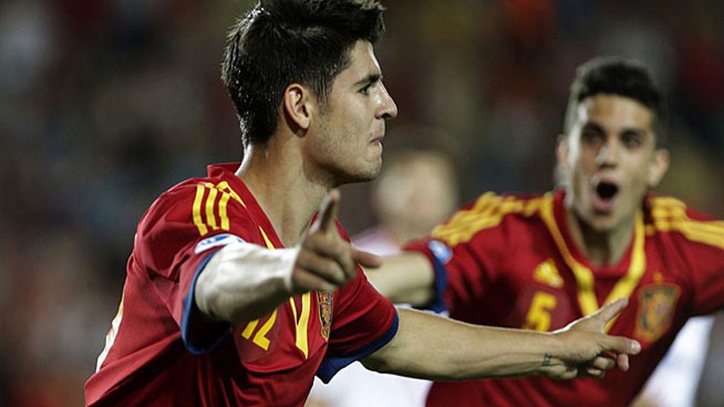 Álvaro Morata, tras marcar ante Rusia