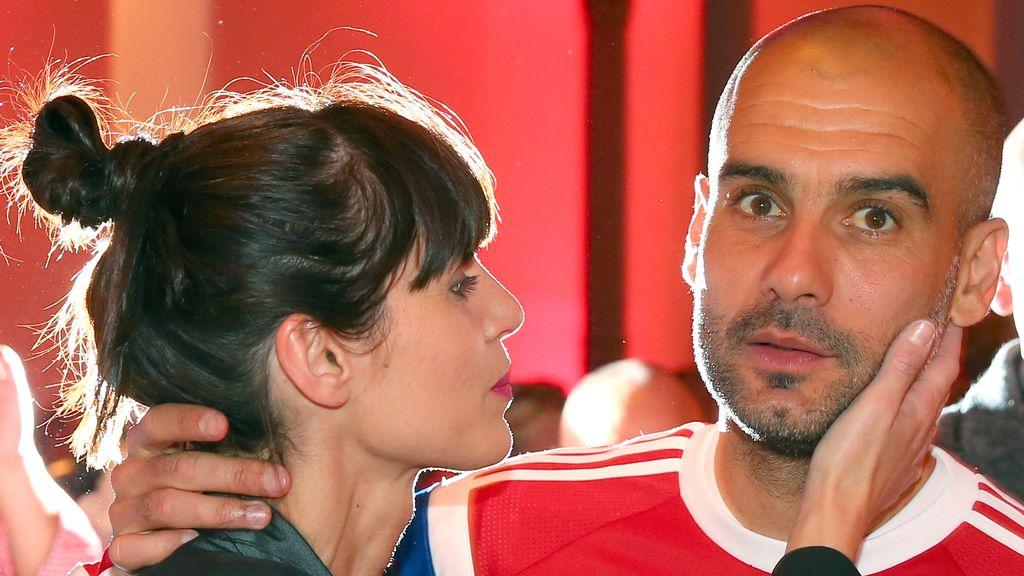 Guardiola y su mujer, Cristina