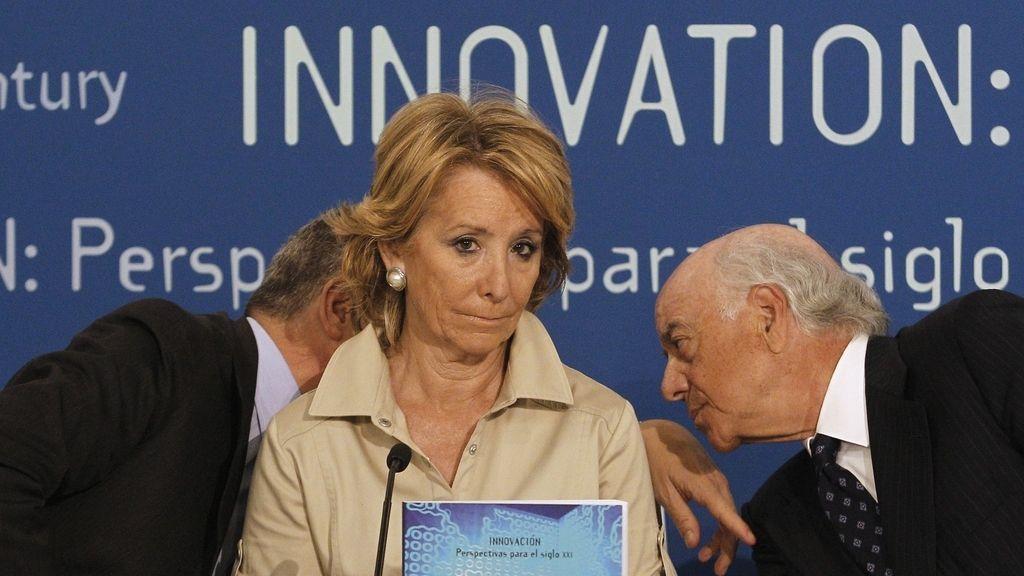 El alcalde de Madrid, Alberto Ruiz Gallardón y la presidenta de la Comunidad de Madrid, Esperanza Aguirre.