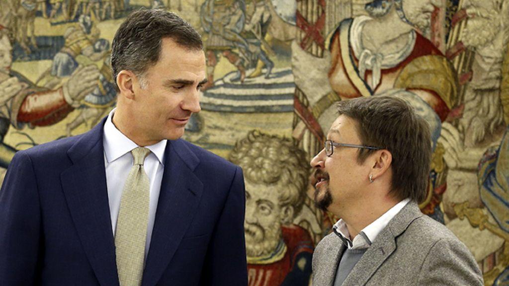 El Rey recibe en la Zarzuela al Portavoz de En Comú Podem, Xavier Domenèch