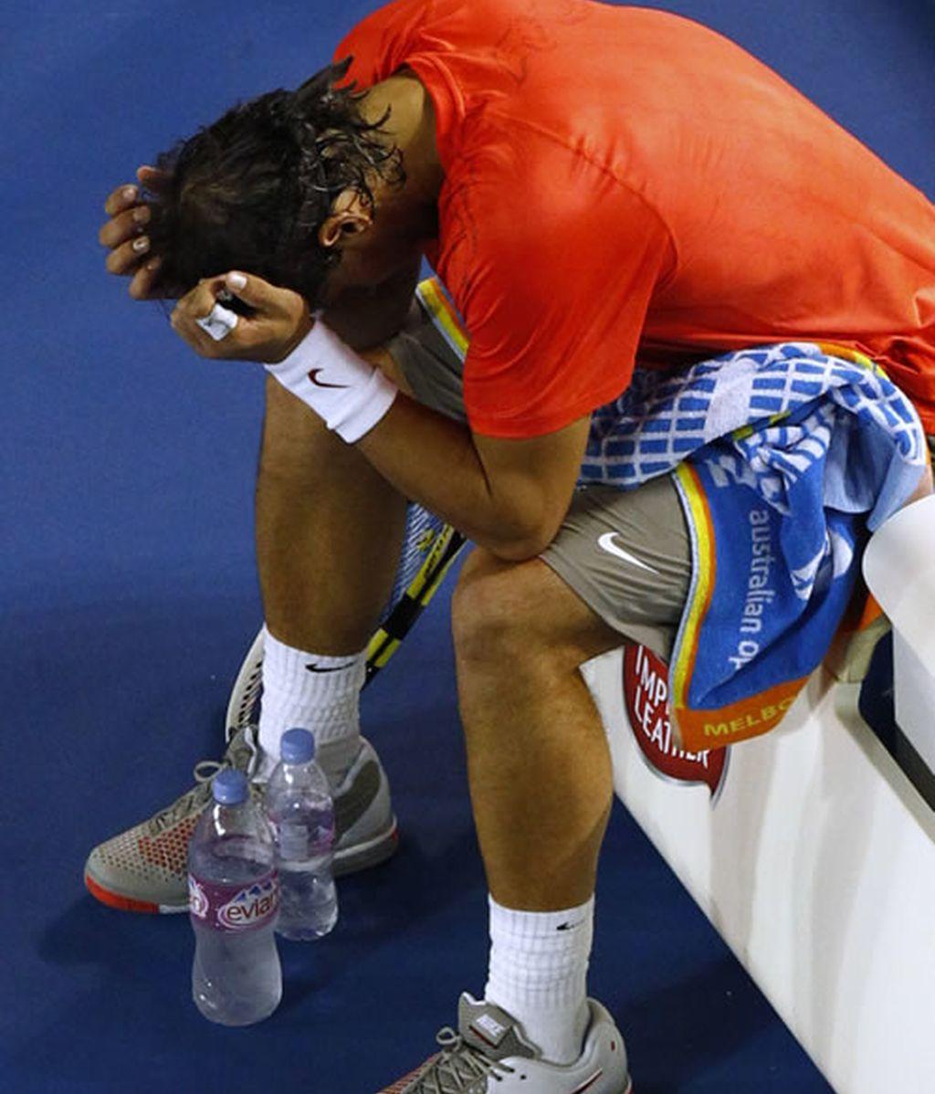 Nadal se lesionó durante su partido con Ferrer
