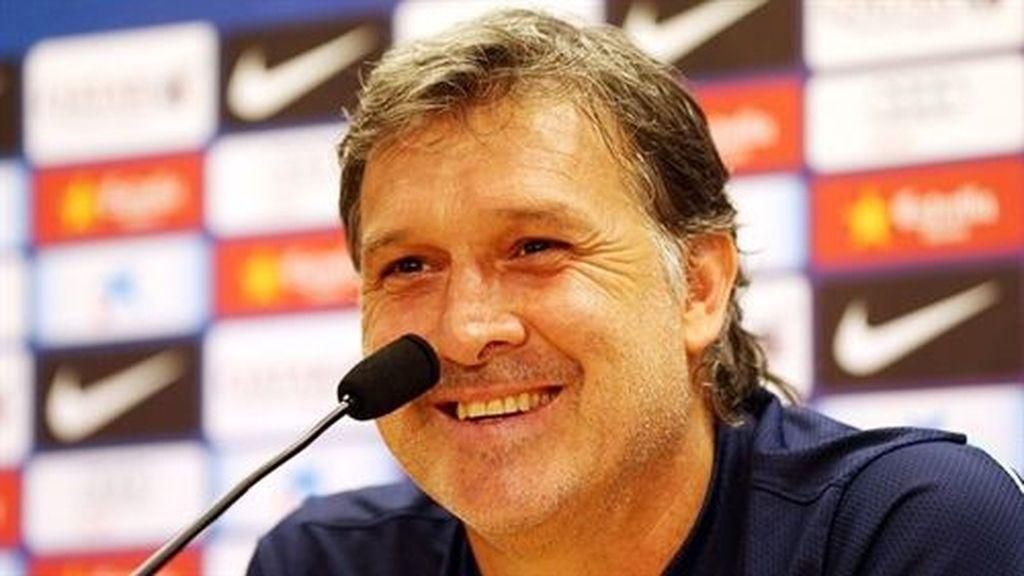 Gerardo 'Tata' Martino en la rueda de prensa previa al partido de vuelta de la Supercopa