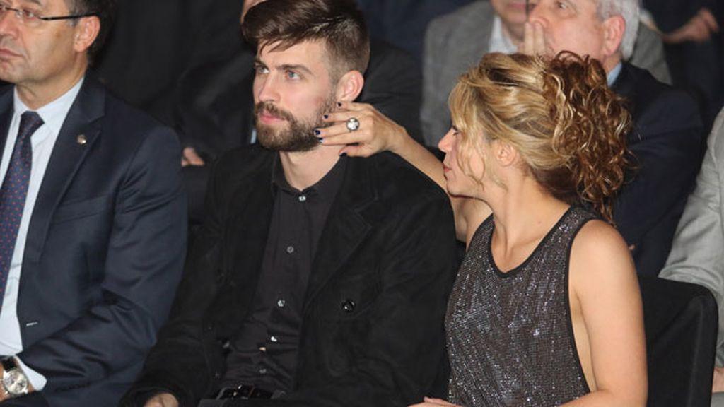 Shakira acompañó al futbolista, que recibía el premio al mejor deportista catalán