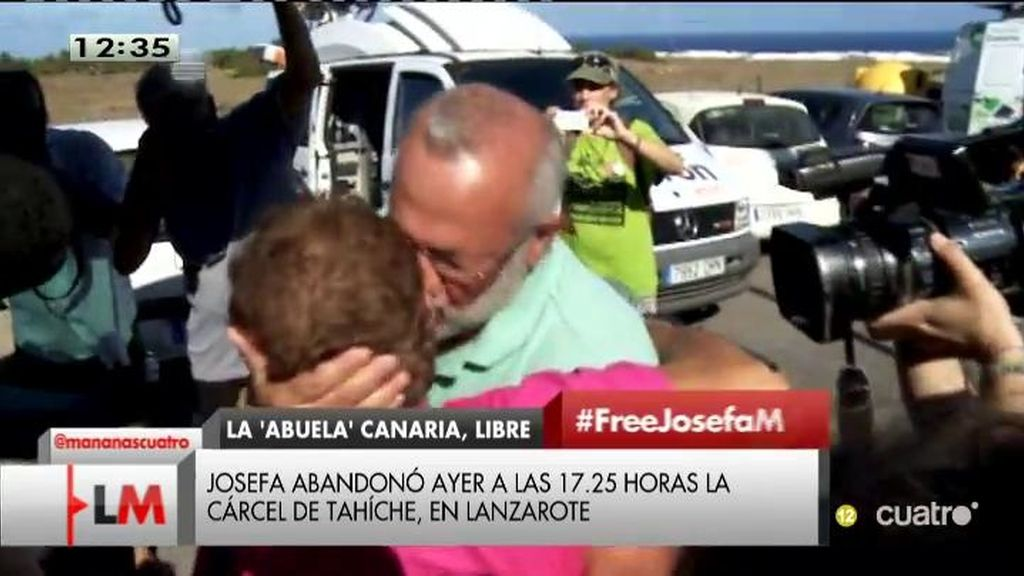 Josefa, la abuela de Fuerteventura, puesta en libertad