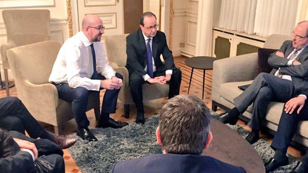 Reunión del primer ministro belga y François Hollande
