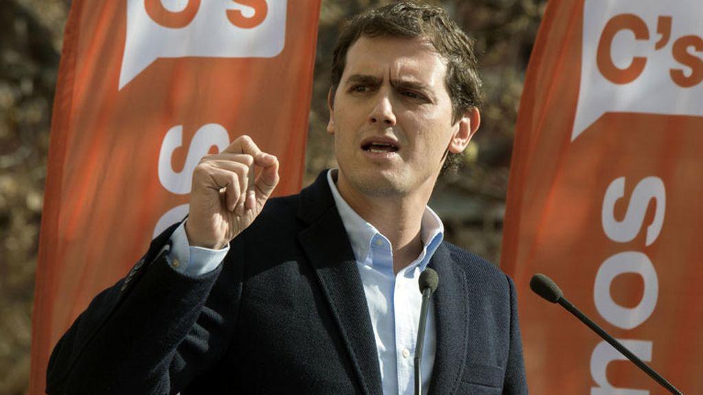 El candidato de Ciudadanos (C's) a la Presidencia del Gobierno, Albert Rivera
