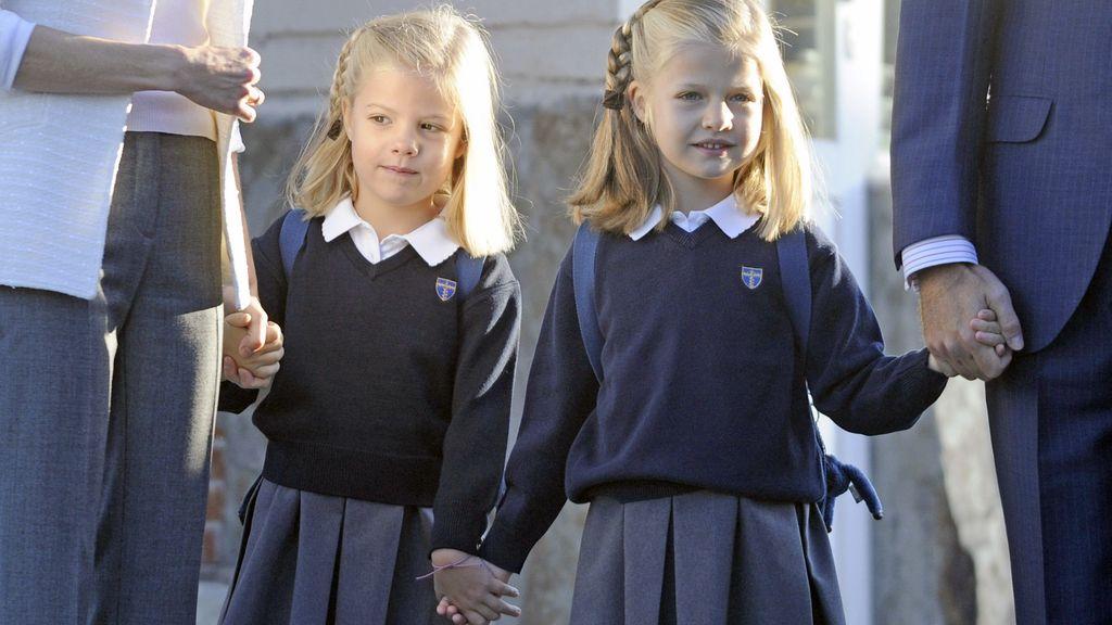 Primer día de colegio para las infantas