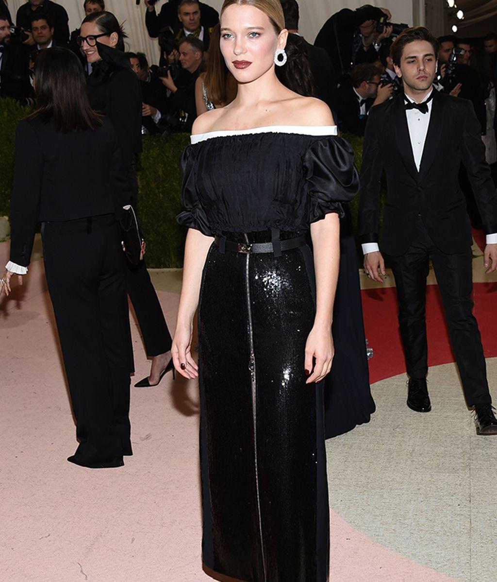 Lea Seydoux vestida de Louis Vuitton