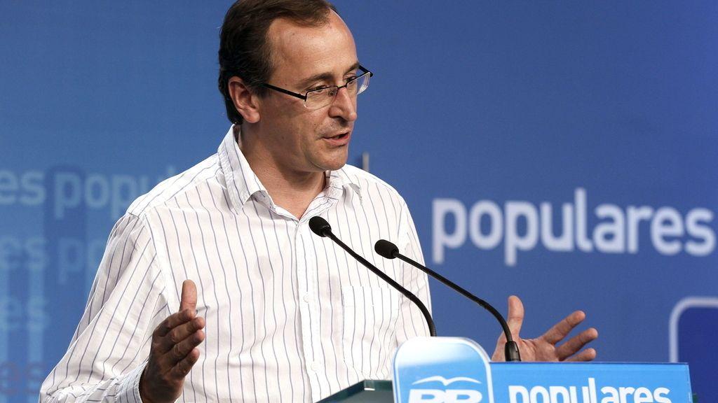 El portavoz del PP en el Congreso de los Diputados, Alfonso Alonso