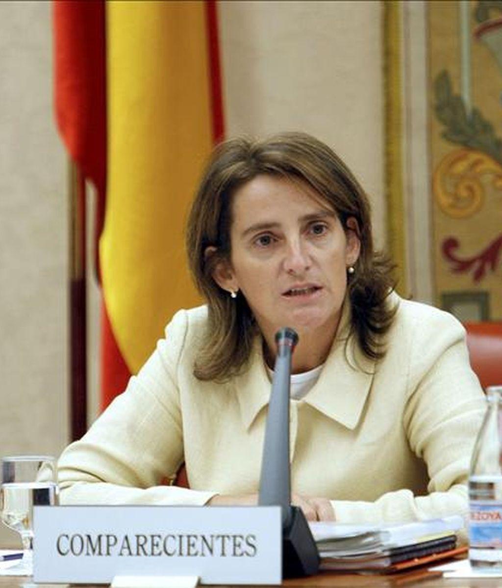 La secretaria de Estado de Cambio Climático, Teresa Ribera, durante una comparecencia en el Congreso. EFE/Archivo