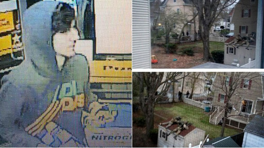La policía vigila una casa de Watertown en la que podría estar el sospechoso del atentado de Boston