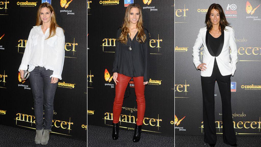 Genoveva Casanova, Ana Fernández y Mónica Martín Luque apostaron por los pantalones