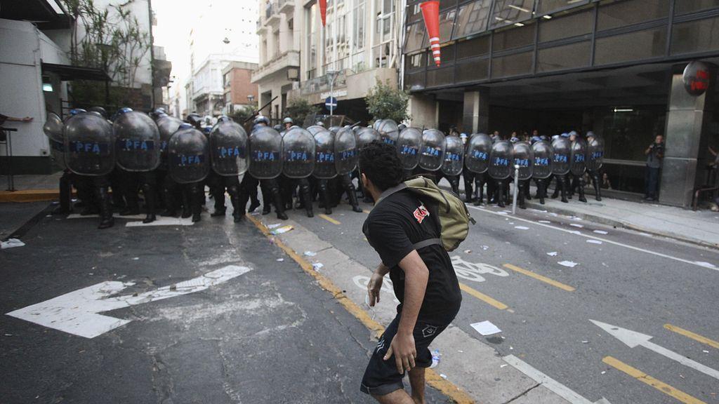 Manifestación en Argentina