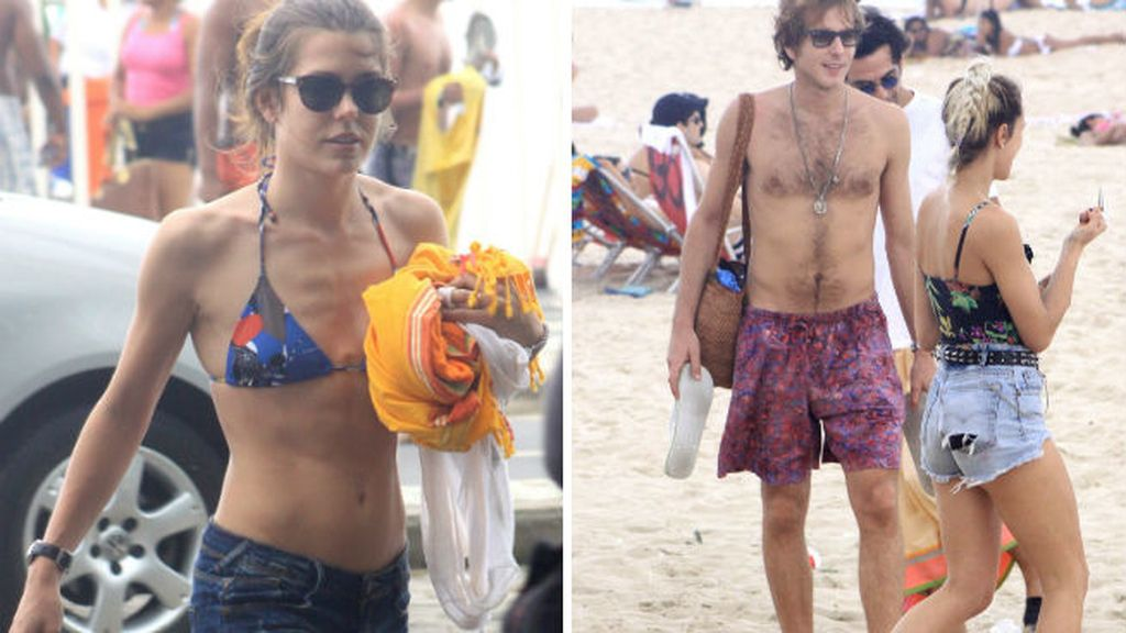Carlota de Mónaco en bikini y shorts...