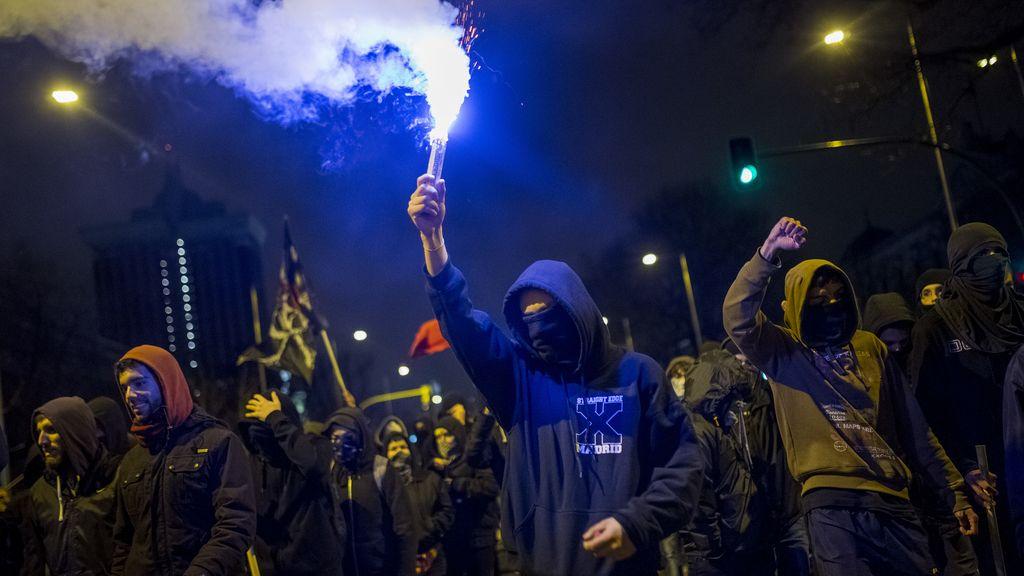 Manifestantes de las Marchas por la Dignidad en Madrid
