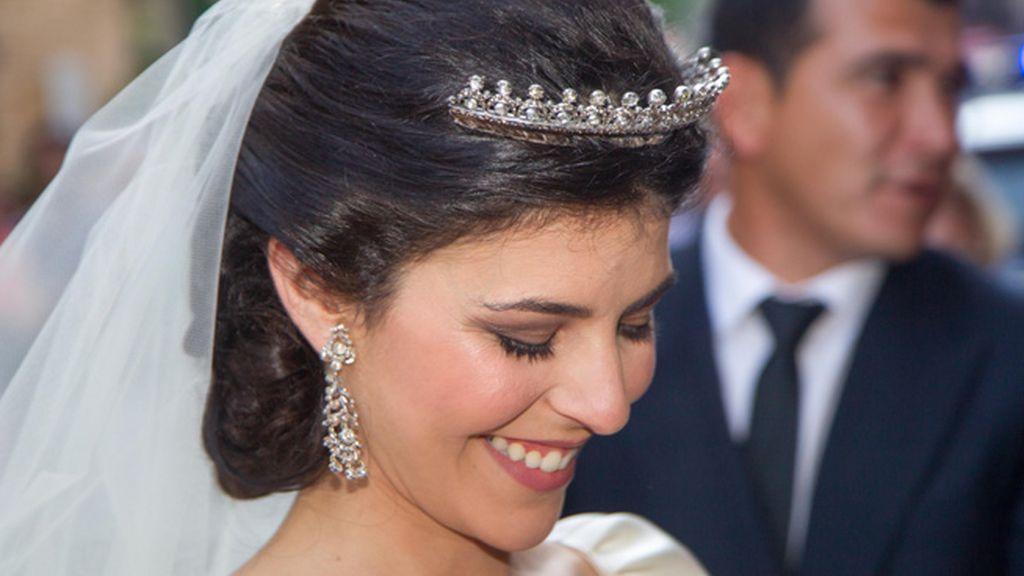 La novia lució una tiara del novio