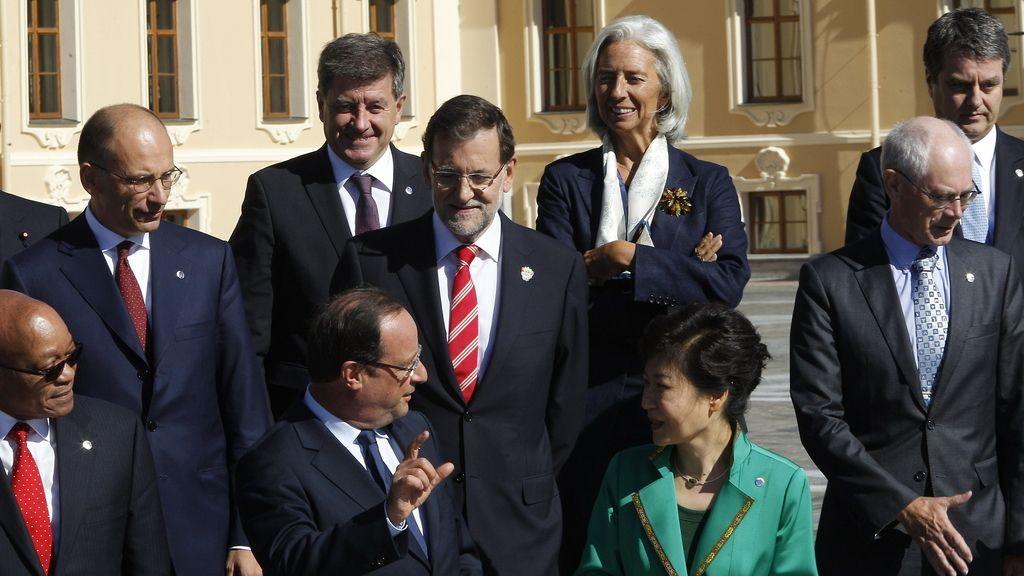 Rajoy durante la foto de familia en el G-20