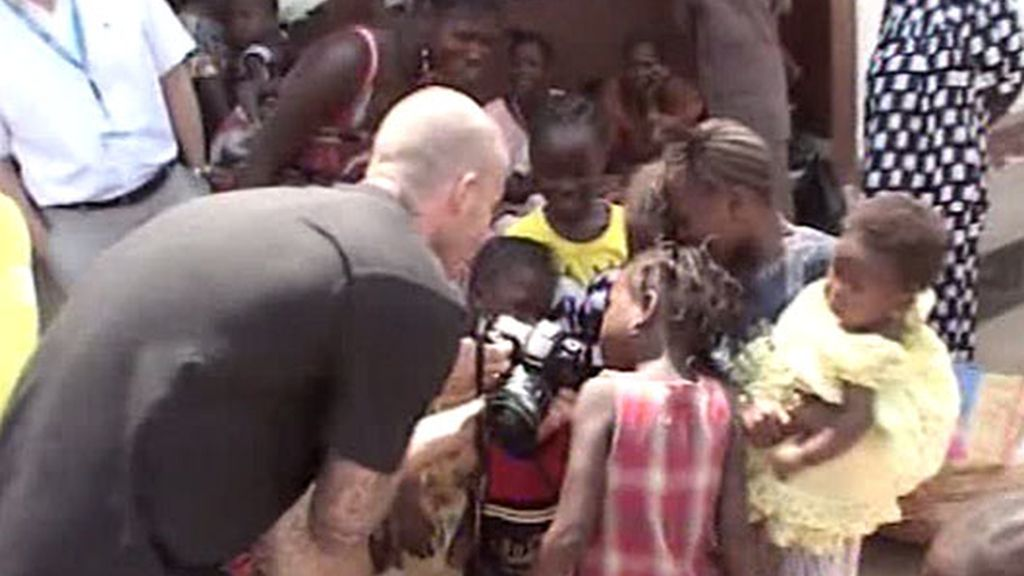 Todos los niños veían las fotos de Beckham