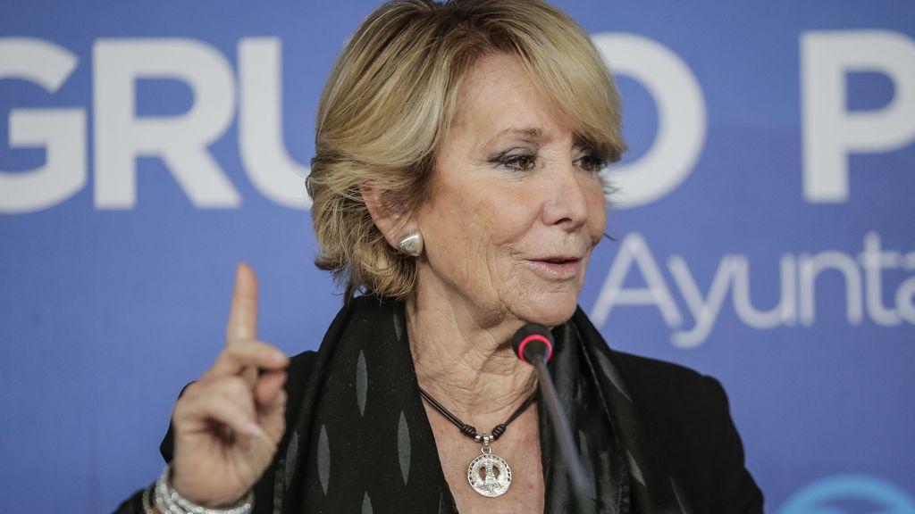 Esperanza Aguirre, concejal popular en el Ayuntamiento de Madrid