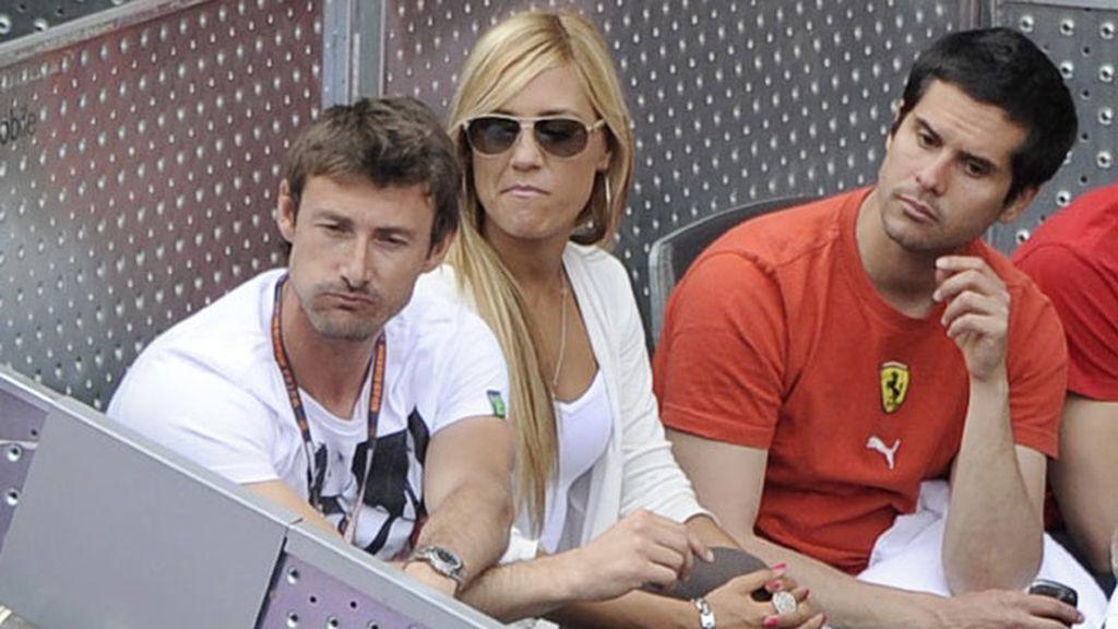 Juan Carlos Ferrero, acompañado por amigos