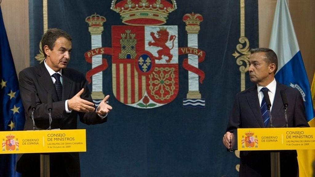 Zapatero y Paulino Rivero