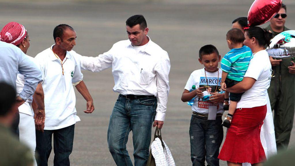 Marcos Baquero liberado por las FARC tras casi 20 meses de cautiverio