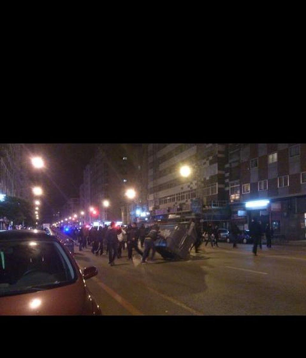 Nuevos disturbios en el barrio burgalés de Gamonal