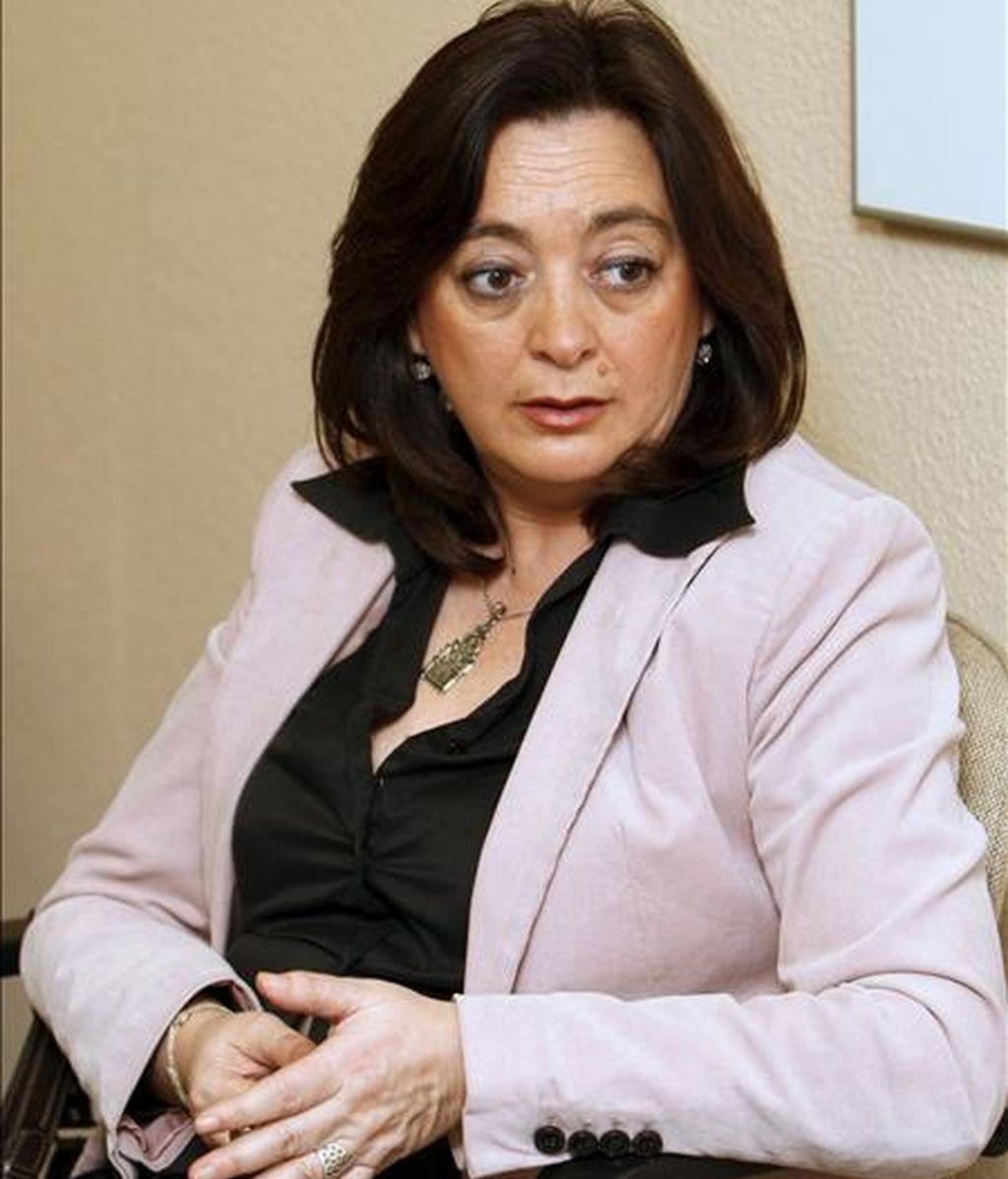 La secretaria de Política Institucional y Autonómica del PSOE, Mar Moreno, durante una entrevista a Efe. EFE/Archivo