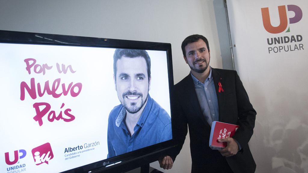 Garzón presenta el lema y la imagen de su campaña electoral