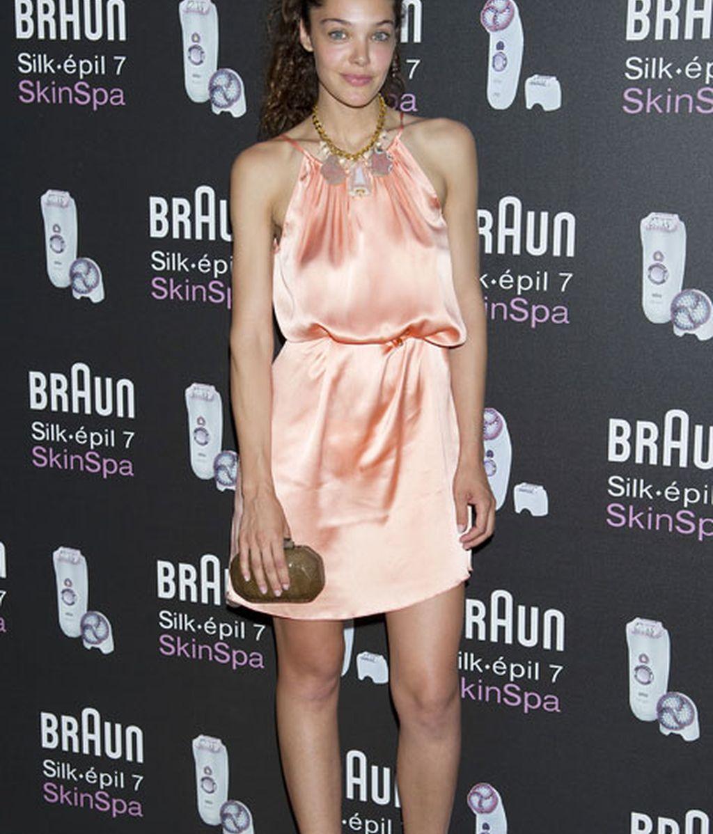 Ana Rujas, con un vestido en tono pastel