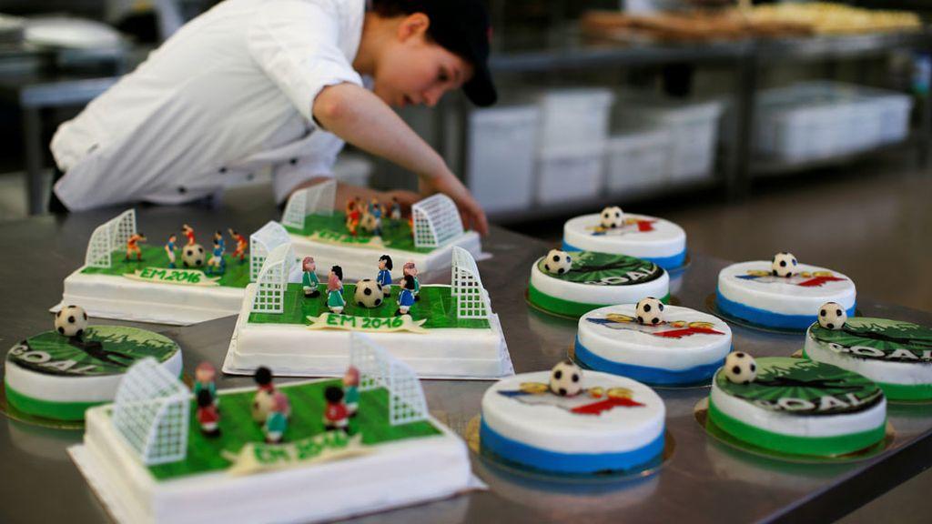Los partidos de la Eurocopa transformados en tartas (20/06/2016)