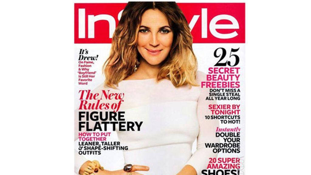 Drew Barrymore en la portada de InStyle del mes de febrero