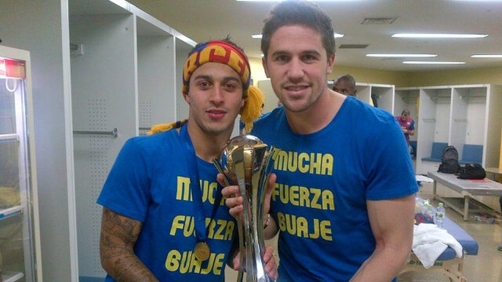 Thiago y Fontás celebran la victoria