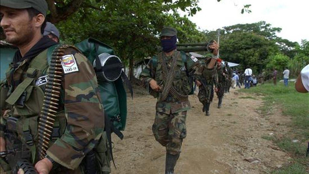 Para el pasado 10 de diciembre, 2.058 miembros de las Fuerzas Armadas Revolucionarias de Colombia (FARC) desertaron de la guerrilla, en comparación con 3.027 en 2008. EFE/Archivo