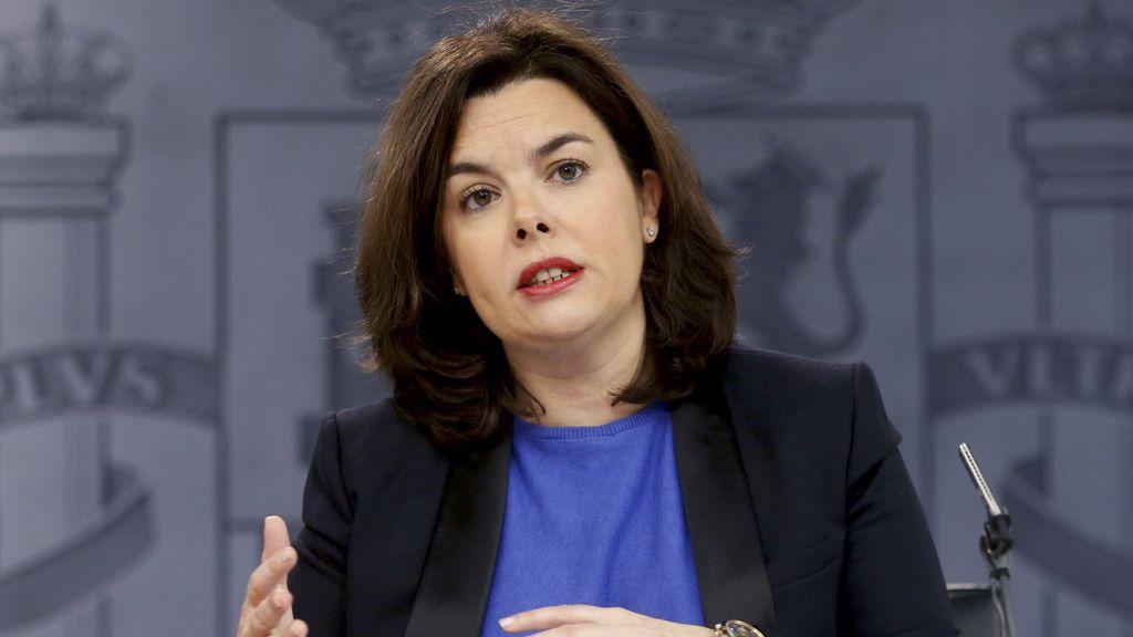 Soraya Sáenz de Santamaría, vicepresidenta en funciones