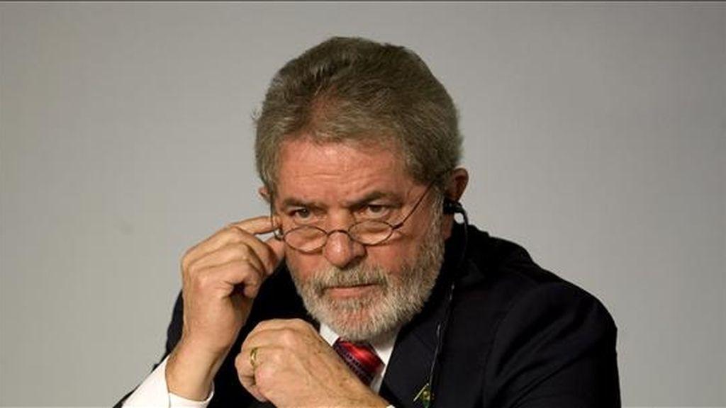 El presidente de Brasil, Luiz Inácio Lula da Silva, asiste hoy a la inauguración de la VI Cumbre de Líderes Progresistas en Viña del Mar (Chile). EFE