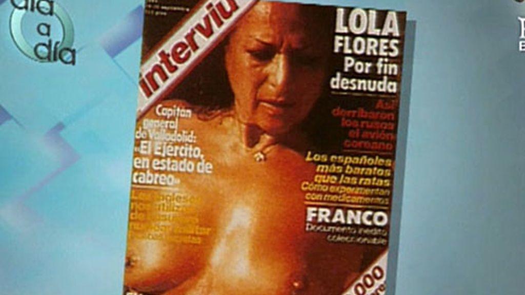 Lola Flores también pasó por la portada de Interviú