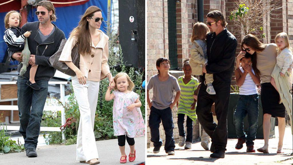 Brad y Angelina forman una de las familias más numerosas de Hollywood