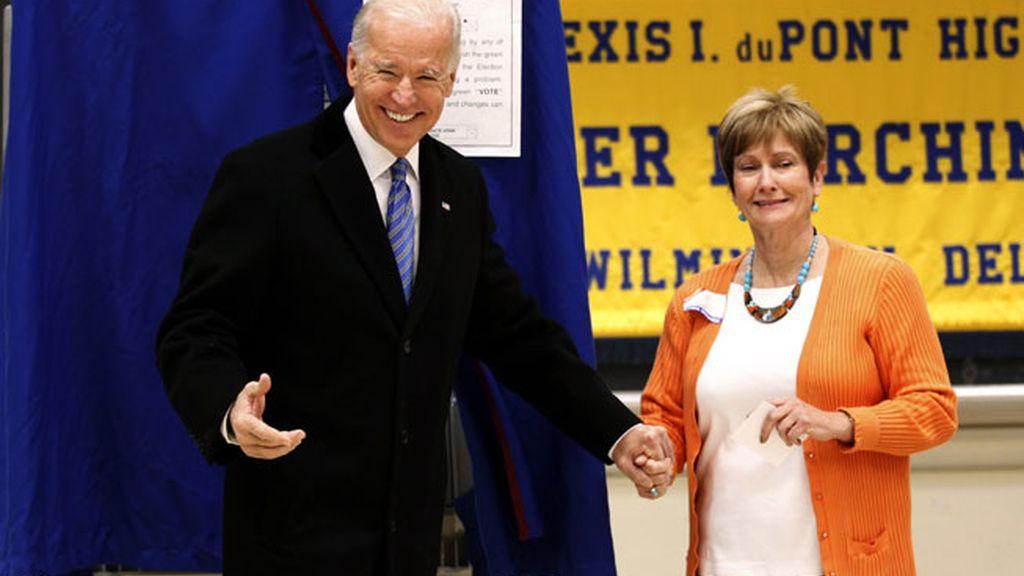 Joe Biden vota en las presidenciales