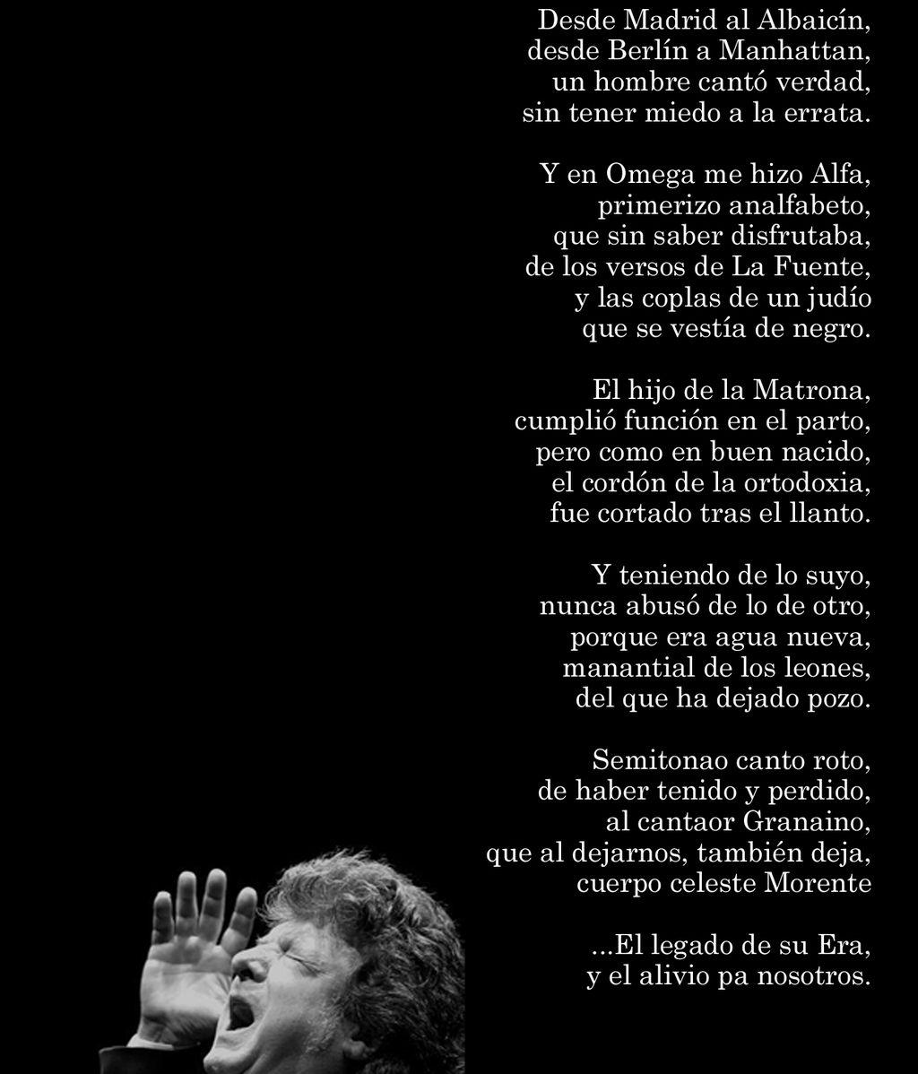 Coraje rinde su particular homenaje a Enrique Morente