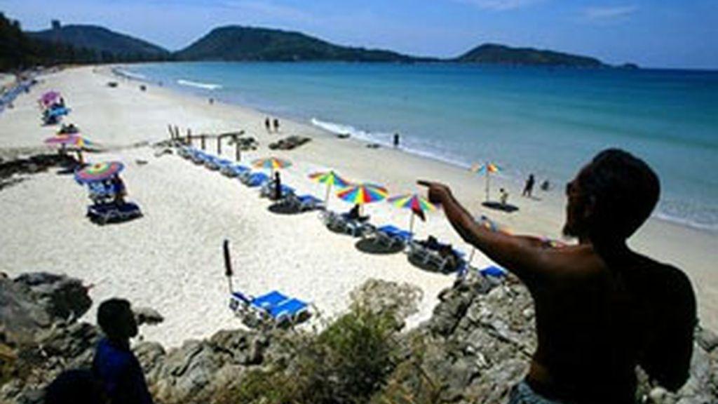 La agresión tuvo lugar en un hotel cercano a la playa de Patong, en Phuket. Foto: AP
