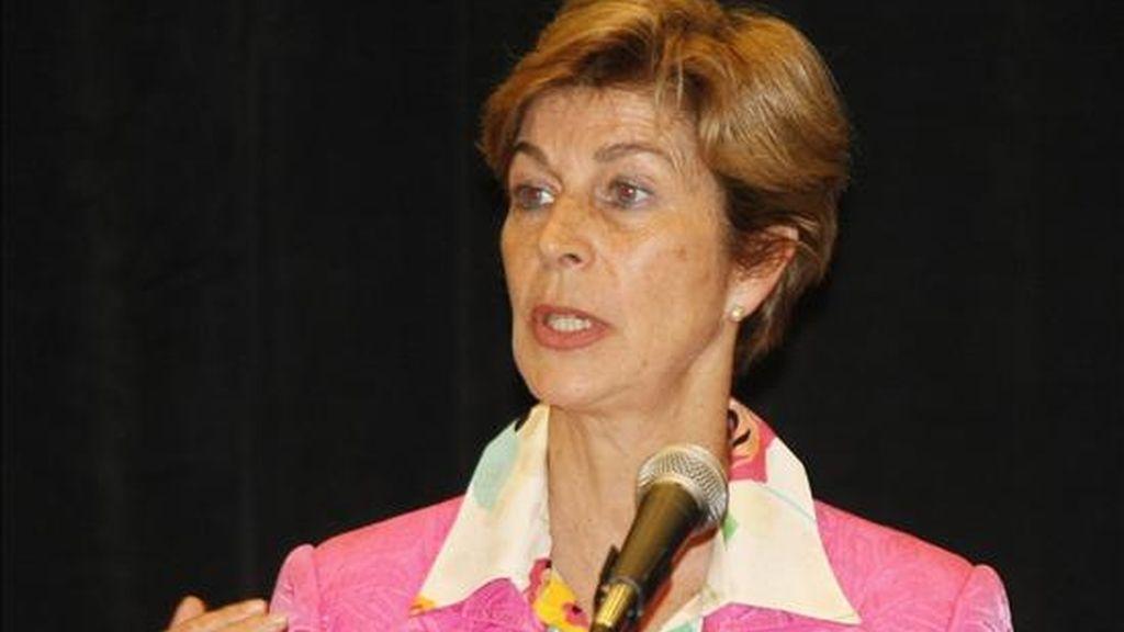 """La embajadora colombiana en Estados Unidos, Carolina Barco, señaló que el Tratado de Libre Comercio (TLC) con Estados Unidos es """"muy importante"""" para Colombia porque permite una mayor inversión en el país. EFE"""