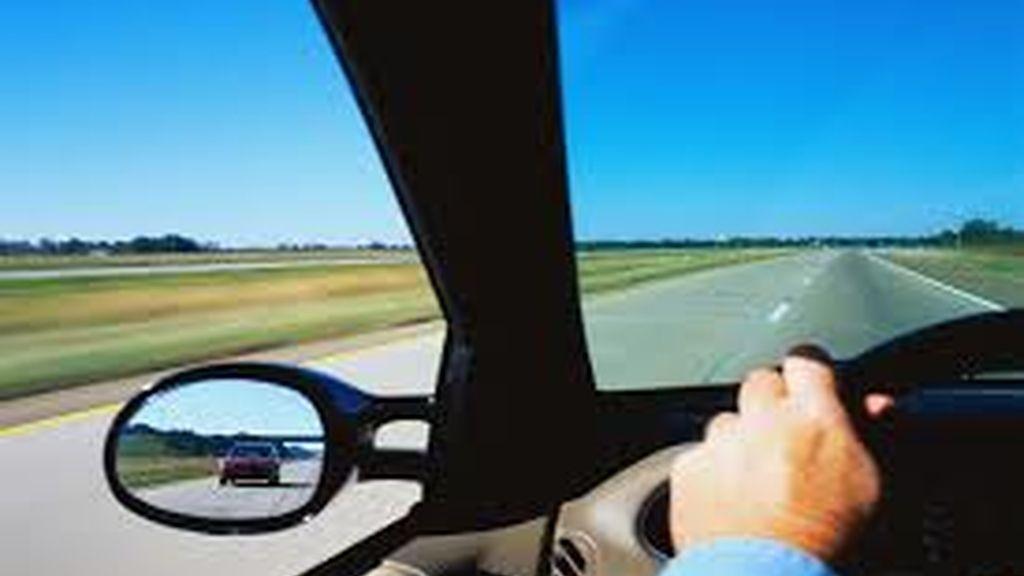 coche, volante, conductor,