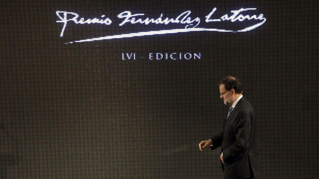 Mariano Rajoy en la entraga del premio Fernández-Latorre a Barreiro Rivas